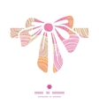 doodle circle texture gift bow silhouette pattern vector image