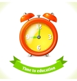 Education icon alarm clock vector image vector image