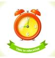 Education icon alarm clock vector image