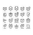 email line icons application ui envelope symbols vector image