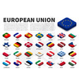 european union eu flag and membership on vector image
