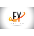 ey e y letter logo with fire flames design and vector image