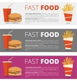 Fast food restaurant menu vector image vector image