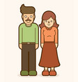 father and mother standing together graphic vector image