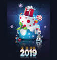 festive set - bright new year vector image vector image