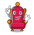 finger king throne mascot cartoon vector image