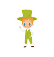 flat icon of adorable red-haired boy in vector image