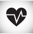 heart rate pulse on white background vector image vector image