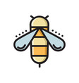 honey bee colorful thin line flat style icon vector image vector image