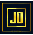 initial letter jo logo template design vector image vector image