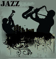 Jazz musician silhouette vector image vector image