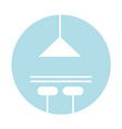 kitchen lamp isolated icon vector image