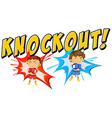 Knockout vector image vector image