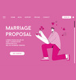 landing page marriage proposal concept vector image