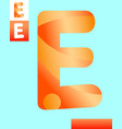 letter e graphic design vector image