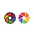 love camera photo colorful logo icon vector image vector image