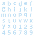 lowercase alphabet graph paper vector image