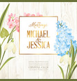 marriage invitation card wedding card with spring vector image