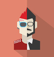 Modern Flat Design Conflict Character Man Icon vector image vector image
