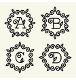 Monogram style linear with the letters a b c d vector image