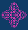 neon color ornate snowflake-like element for party vector image