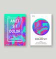 neon splash artistic cover design fluid vector image vector image