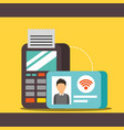 nfc payment technology vector image vector image