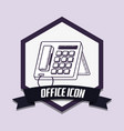 office icon design vector image