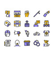 protests items color linear icons set vector image vector image