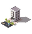 public residential building isometry isometric vector image