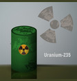 radioactive uranium in the barrels vector image