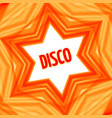red disco star background vector image vector image