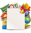school concept with paper sheet vector image