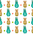 Seamless pattern with Easter bunny-10 vector image vector image