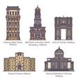 set moldova or moldavia historical landmarks vector image vector image