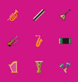 set of 9 editable multimedia flat icons includes vector image