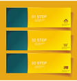 Set of Bannerss STEP 1 2 3 with Different Shadow vector image vector image
