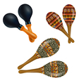 Set of maracas vector image vector image