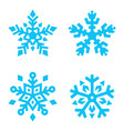 set snowflakes isolated on white background vector image