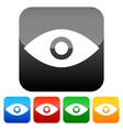 simple eye icons vector image vector image