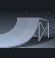 skate park at night concept background cartoon vector image