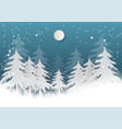 snowflake with tree on blue background for vector image