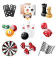 sports and leisure icons set vector image vector image