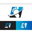 Swoosh Foot Logo Icon vector image vector image