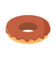swwet donut food dessert in cartoon flat icon vector image vector image