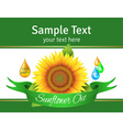 The label on the bottle of sunflower oil vector image vector image
