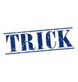 trick blue grunge vintage stamp isolated on white vector image vector image