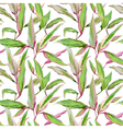 Tropical Leaves Background Seamless Pattern Design vector image