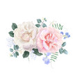 vintage floral banner with garden rose vector image vector image