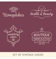 Vintage logo set line vector image vector image